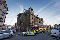 2019 09 08 fire at the Palace Theatre, a dilapidated building in the High Street of Swansea, Wales,