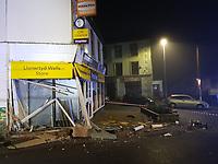2021 02 03 The scene of the car crash in Llanwrtyd Wells, Wales, UK