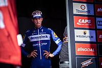23-year old Jannik Steimle (GER/Deceuninck Quick Step) awaiting the podium ceremony after winning the 104th Kampioenschap van Vlaanderen 2019<br /> <br /> One Day Race: Koolskamp > Koolskamp 186km (UCI 1.1)<br /> ©kramon