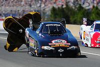 Mar. 12, 2011; Gainesville, FL, USA; NHRA funny car driver Brian Thiel during qualifying for the Gatornationals at Gainesville Raceway. Mandatory Credit: Mark J. Rebilas-.