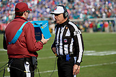 Referee John Hussey during an NFL Wild-Card football game between the Buffalo Bills and Jacksonville Jaguars, Sunday, January 7, 2018, in Jacksonville, Fla.  (Mike Janes Photography)