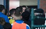 Dundee v St Johnstone…10.03.18…  Dens Park    SPFL<br />Graham Gartland calshes with saints managetr Tommy Wright in the tunnel<br />Picture by Graeme Hart. <br />Copyright Perthshire Picture Agency<br />Tel: 01738 623350  Mobile: 07990 594431