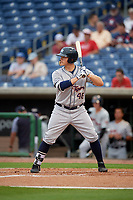 Lakeland Flying Tigers Nick Ames (46) at bat during a Florida State League game against the Clearwater Threshers on May 14, 2019 at Spectrum Field in Clearwater, Florida.  Clearwater defeated Lakeland 6-3.  (Mike Janes/Four Seam Images)