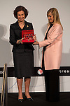 "Queen Sofia receives the Excellent Prize of Spain on the occasion of the VIII International Congress of Excellence ""The Digital Economy, Markets and Opportunities"" at the hands of the president of the community of Madrid, Cristina Cifuentes"