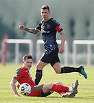 11.01.2020 Rangers v Lokomotiv Tashkent, Sevens Stadium, Dubai:<br /> Ryan Jack and Kirill Pogrebnyak