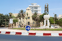 Dakar, Senegal.  Soweto Square (Place Soweto), and Dakar Museum in background.