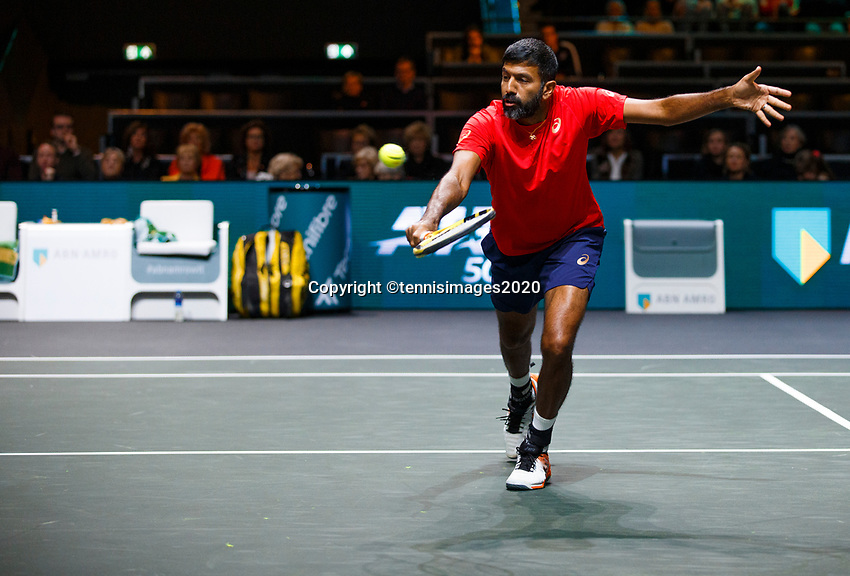 Rotterdam, The Netherlands, 11 Februari 2020, ABNAMRO World Tennis Tournament, Ahoy, <br /> Rohan Bopanna (IND).<br /> Photo: www.tennisimages.com