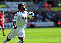 Pictured: Wayne Routledge.<br /> Saturday 20 April 2013<br /> Re: Barclay's Premier League, Swansea City FC v Southampton at the Liberty Stadium, south Wales.