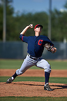 Cleveland Indians pitcher Brock Hartson (61) during an instructional league game against the Milwaukee Brewers on October 8, 2015 at the Maryvale Baseball Complex in Maryvale, Arizona.  (Mike Janes/Four Seam Images)