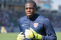 Carson, CA - Sunday, February 8, 2015: goalkeeper Sean Johnson (12) of the USMNT. The USMNT defeated Panama 2-0 during an international friendly at the StubHub Center