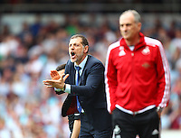 Slaven Bilic manager of West Ham United   during the Barclays Premier League match between West Ham United and Swansea City  played at Boleyn Ground , London on 7th May 2016