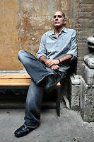 Roma 17/6/2004 festival letterature, Guillermo Arriaga. <br /> Foto Samantha Zucchi Insidefoto