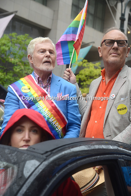 Sir Derek Jacobi attends the 2015 NYC Pride March on June 28, 2015 on Fifth Avenue in New York City. <br /> <br /> photo by Robin Platzer/Twin Images<br />  <br /> phone number 212-935-0770