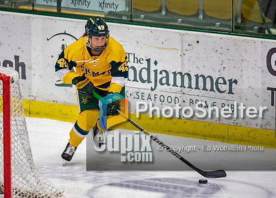 8 February 2020: University of Vermont Catamount Defender Sara Levesque, a Freshman from Chicoutimi, Québec, in third period action against the University of Connecticut Huskies at Gutterson Fieldhouse in Burlington, Vermont. The Huskies defeated the Lady Cats 4-2 in the first game of their weekend Hockey East series. Mandatory Credit: Ed Wolfstein Photo *** RAW (NEF) Image File Available ***