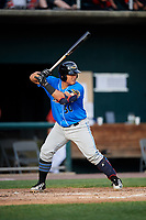 Akron RubberDucks catcher Li-Jen Chu (30) at bat during a game against the Harrisburg Senators on August 18, 2018 at FNB Field in Harrisburg, Pennsylvania.  Akron defeated Harrisburg 5-1.  (Mike Janes/Four Seam Images)