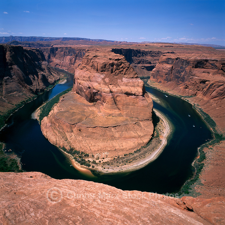 Colorado River at Horseshoe Bend, near Page, Arizona, USA - Glen Canyon National Recreation Area