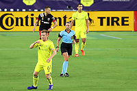 NASHVILLE, TN - SEPTEMBER 23: Referee Tori Penso works as the first woman to referee an MLS match in 20 years during a game between D.C. United and Nashville SC at Nissan Stadium on September 23, 2020 in Nashville, Tennessee.
