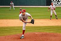 NASHVILLE, TENNESSEE-Feb. 25, 2011:  Starter Mark Appel of Stanford prepares to deliver a pitch during a game at Vanderbilt University in Nashville, Tennessee.  Vanderbilt defeated Stanford 2-1.