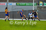 Cian Tobin Spa scores his second goal past Beaufort keeper  Sean Coffey  during the Intermediate Club Championship final in Fitzgerald Stadium on Sunday