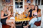 Enjoying the evening in Sean Ogs on Friday, l to r: Rita Molloy (Tralee) Shauna and Bernice O'Shea, Egor Krno and Jovana Nikolic.