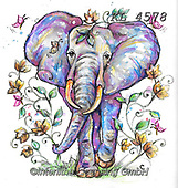 Interlitho-Theresa, REALISTIC ANIMALS, REALISTISCHE TIERE, ANIMALES REALISTICOS, paintings+++++,elephant,KL4578,#a#, EVERYDAY