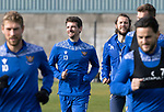 St Johnstone Training….01.10.20     <br />Craig Bryson pictured with Stevie May during training at McDiarmid Park ahead of Sundays game against Celtic.<br />Picture by Graeme Hart.<br />Copyright Perthshire Picture Agency<br />Tel: 01738 623350  Mobile: 07990 594431