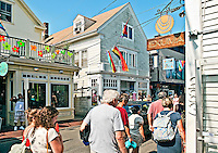 Shops along Commerce Street, Provincetown, Cape Cod, MA, USA