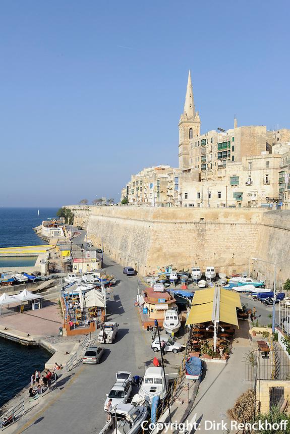 Marsamxett Harbour in Valletta, Malta, Europa, Unesco-Weltkulturerbe