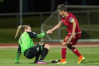 Montenegro's Jovana Bajcetic and Spain's Sonia Bermudez during the match of  European Women's Championship 2017 at Las Rozas, between Spain and Montenegro. September 15, 2016. (ALTERPHOTOS/Rodrigo Jimenez) /NORTEPHOTO