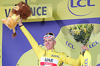 6th July 2021, Albertville, Auvergne-Rhône-Alpes, France;  TOUR DE FRANCE 2021- UCI Cycling World Tour. Stage 10 from Albertville to Valence on the 6th of July 2021, Valence, France. Tadej Pogacar Slovenia Uae Team Emirates