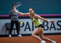 Bratislava, Slovenia, April 22, 2017,  FedCup: Slovakia-Netherlands, First rubber : Jana Cepelova (SVK)<br /> Photo: Tennisimages/Henk Koster
