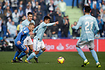 Getafe CF's Samu Saiz Alonso and Celta de Vigo's Hugo Mallo, Fran Beltran Peinado and Jozabed Sanchez  during La Liga match. February 09,2019. (ALTERPHOTOS/Alconada)