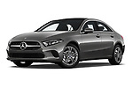 Stock pictures of low aggressive front three quarter view of a 2019 Mercedes Benz A Class A 200 4 Door Sedan