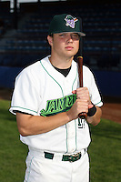 July 11th 2008:  Infielder Brandon Turner of the Jamestown Jammers, Class-A affiliate of the Florida Marlins, during a game at Russell Diethrick Park in Jamestown, NY.  Photo by:  Mike Janes/Four Seam Images
