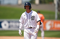 Detroit Tigers Dillon Dingler (9) during a Minor League Spring Training game against the Baltimore Orioles on April 14, 2021 at Joker Marchant Stadium in Lakeland, Florida.  (Mike Janes/Four Seam Images)