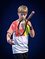 Hilversum, Netherlands, December 2, 2018, Winter Youth Circuit Masters, Pieter de Lange (NED) winner boys 12 years<br /> Photo: Tennisimages/Henk Koster