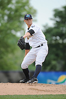 Trenton Thunder pitcher Taylor Garrison (11) during the game against the Harrisburg Senators at ARM & HAMMER Park on May 21, 2014 in Trenton, New Jersey.  Harrisburg defeated Trenton 9-0.  (Tomasso DeRosa/Four Seam Images)