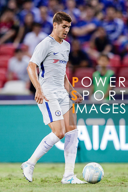 Chelsea Forward Alvaro Morata (R) in action during the International Champions Cup 2017 match between FC Internazionale and Chelsea FC on July 29, 2017 in Singapore. Photo by Marcio Rodrigo Machado / Power Sport Images