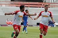 celebrate the goal, Torjubel zum 0:1 Sarpreet Singh (Jahn Regensburg)<br /> <br /> - 24.07.2021 Fussball 2. Bundesliga, Saison 21/22, Spieltag 1, SV Darmstadt 98 - SV Jahn Regensburg, Stadion am Boellenfalltor, emonline, emspor, <br /> <br /> Foto: Marc Schueler/Sportpics.de<br /> Nur für journalistische Zwecke. Only for editorial use. (DFL/DFB REGULATIONS PROHIBIT ANY USE OF PHOTOGRAPHS as IMAGE SEQUENCES and/or QUASI-VIDEO)