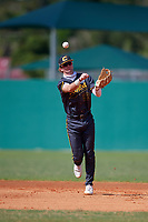Alex Mooney (22) during the WWBA World Championship at Terry Park on October 8, 2020 in Fort Myers, Florida.  Alex Mooney, a resident of Rochester Hills, Michigan who attends Orchard Lake St. Marys Prep High School, is committed to Duke.  (Mike Janes/Four Seam Images)