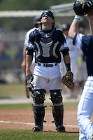 UW-Stout Blue Devils Charlie Meyer (5) during the second game of a doubleheader against the Edgewood Eagles on March 16, 2015 at Lee County Player Development Complex in Fort Myers, Florida.  UW-Stout defeated Edgewood 8-2.  (Mike Janes/Four Seam Images)