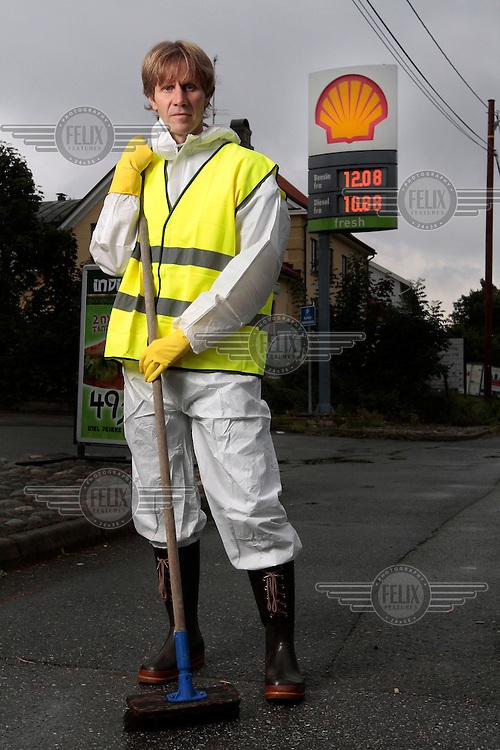 Amnesty campaign against Shell. Secretary General for Amnesty International Norge (Norway) John Peder Egenæs.© Fredrik Naumann/Felix Features