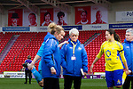 Doncaster Rovers Belles 1 Chelsea Ladies 4, 20/03/2016. Keepmoat Stadium, Womens FA Cup. Famous Doncaster Rovers players watch on the Doncaster Belles warm down after game. Photo by Paul Thompson.