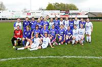 Finale Beker van West-Vlaanderen Vrouwen FC Knokke - SK Opex Girls Oostende : ploegfoto beide ploegen samen <br /> foto VDB / BART VANDENBROUCKE