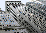 Buildings in Manhattan financial district (New York City).