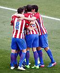 Atletico de Madrid's players celebrate goal during La Liga match. March 19,2017. (ALTERPHOTOS/Acero)