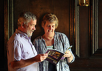 L-R Volunteers Chris Slight and Helen Saunders Tredegar House, which is leased by The National Trust in the outskirts of Newport, south Wales. Thursday 25 August 2016