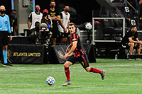 ATLANTA, GA - SEPTEMBER 02: Brooks Lennon #11 of Atlanta United FC dribbles the ball during a game between Inter Miami CF and Atlanta United FC at Mercedes-Benz Stadium on September 02, 2020 in Atlanta, Georgia.