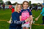Pippa McDermott with her mom Deirdre McDermott enjoying her first day at Tralee Parnells juvenile hurling training on Friday