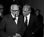 SANDRO PERTINI CON GIORGIO STREHLER<br /> TEATRO QUIRINO  ROMA 1979